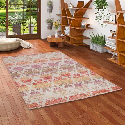 Designer Teppich Vintage Zoe Modern Rosa Orange Trend