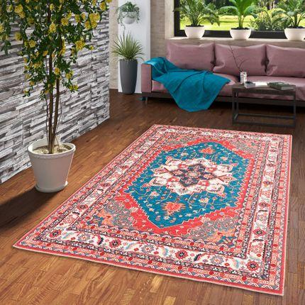 Luxus Orient Teppich Primus Türkis Keshan