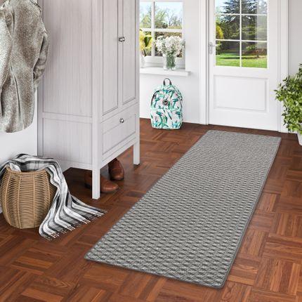 Schlingen Teppich Läufer Modern Diamond Anthrazit
