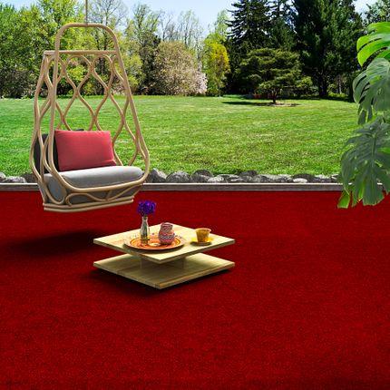 Kunstrasen Rasenteppich mit Noppen Kingston Rot