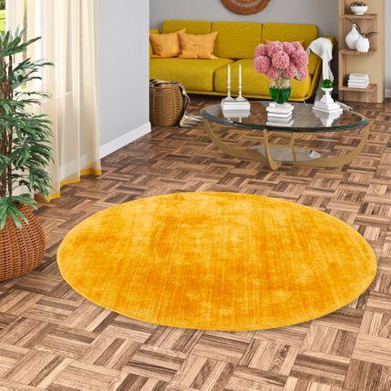 Luxus Designer Teppich Roma Curry Rund