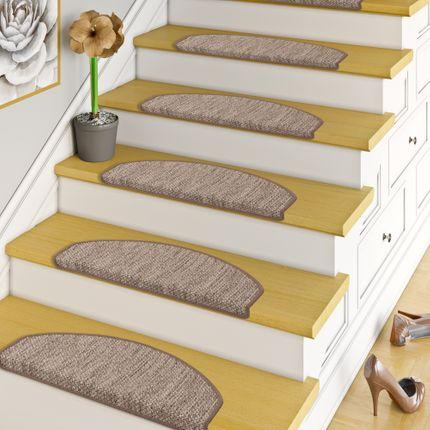 Bentzon Flachgewebe Stufenmatten Braun (halbrund) in 2 Größen