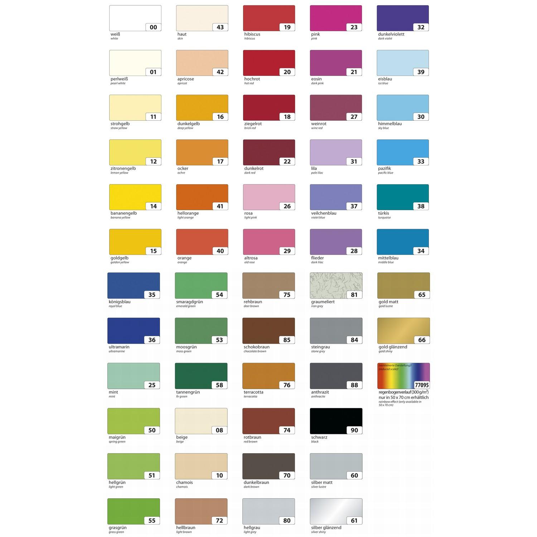 50x70cm 100 Bogen Bastelpapier 130g//m² Tonpapier