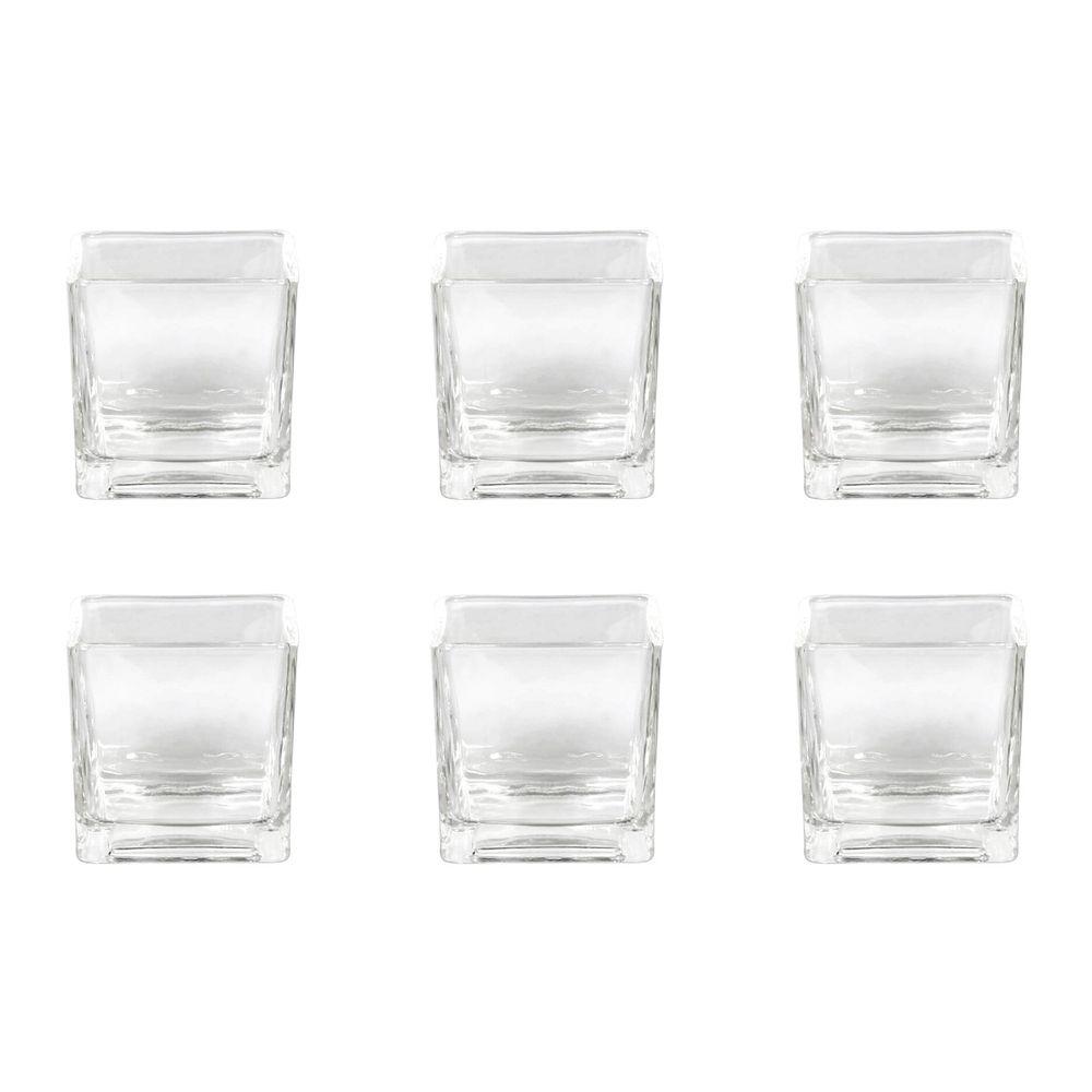 Vase Windlicht Cube Würfel, Glas, 8 x 8 cm