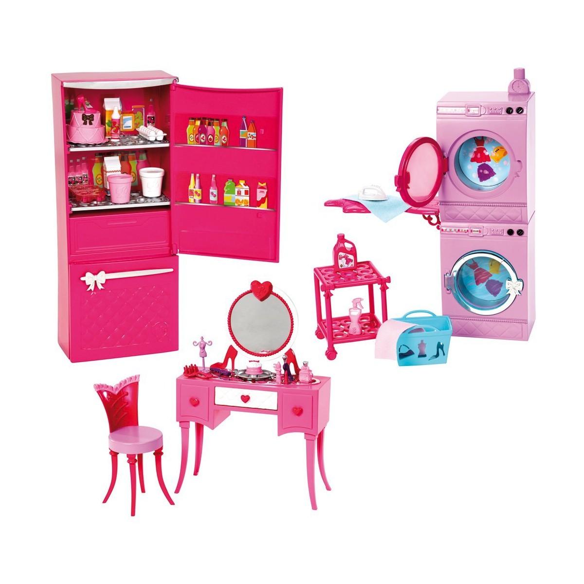 Barbie Möbel Möbelsortiment zum Spielen und Sammeln (3er Set) von ...