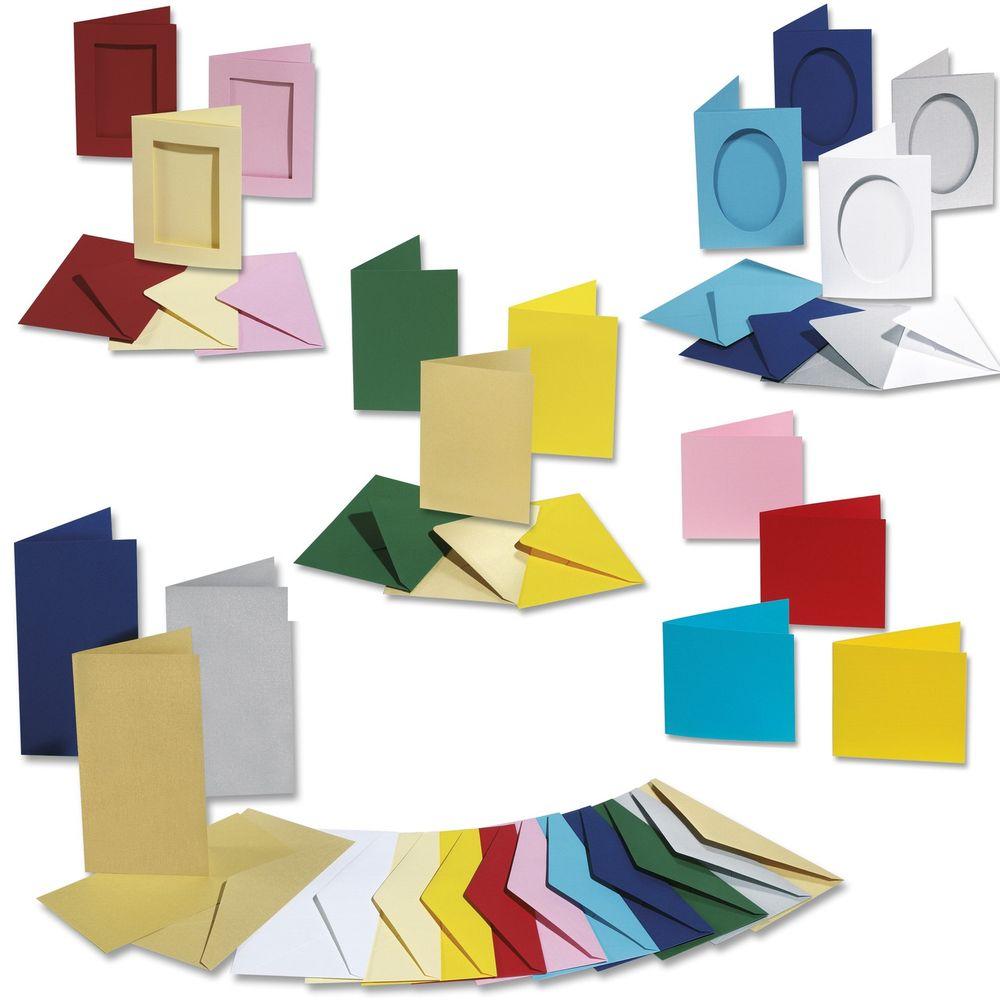 Passepartoutkarten / Doppelkarten, Tonkarten 220g/m², 5 Karten & Kuverts