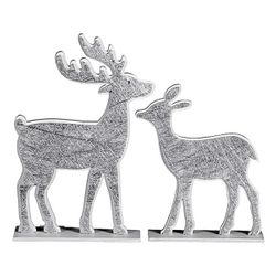 tfc 51 9330186 deko figur reh oder hirsch aus holz 18 bzw 24 cm schwarz wei modell. Black Bedroom Furniture Sets. Home Design Ideas