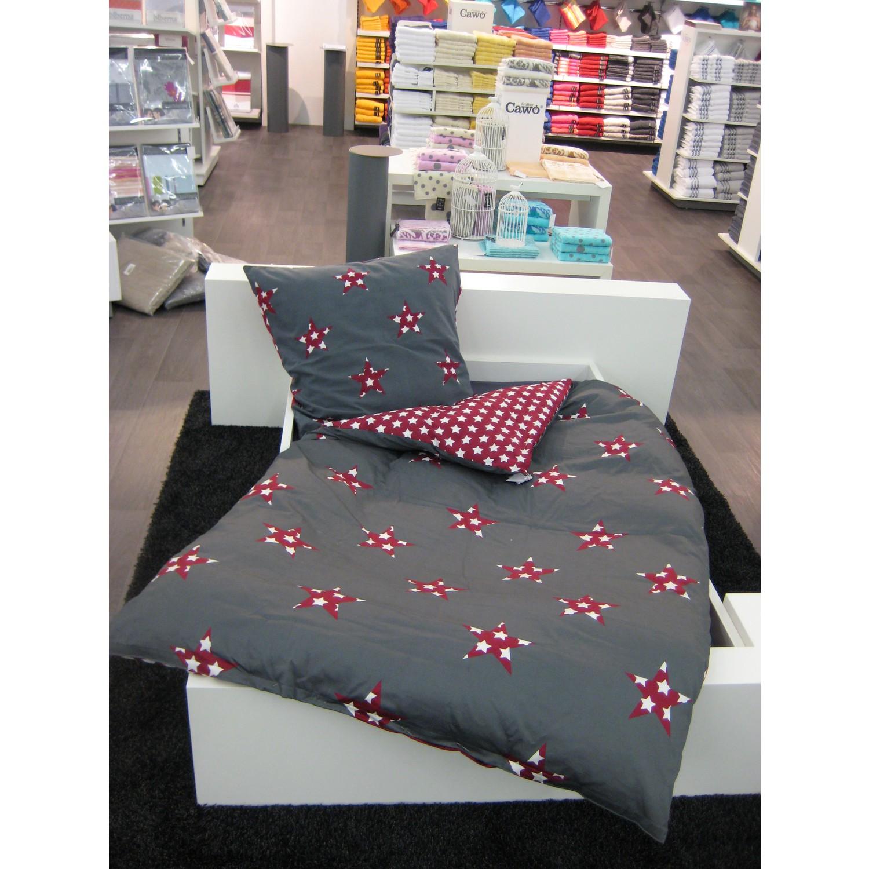 st barth flanell bettw sche sterne 100 baumwolle 135 x 200 cm grau bordeaux 1 st ck. Black Bedroom Furniture Sets. Home Design Ideas