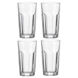 "LEONARDO 13000 ""Rock"" Longdrinkbecher XL, 540 ml, Glas, klar (4er Pack) – Bild 1"