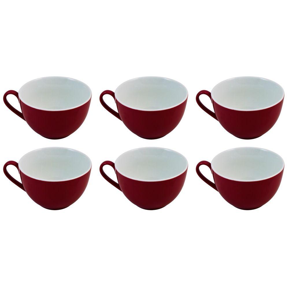 "Flirt by R&B 516104 ""Doppio"" Kaffee-Obere / Tasse / Kaffeetasse 180 ml, Ø 10 x 6 cm, rot (6er Pack)"