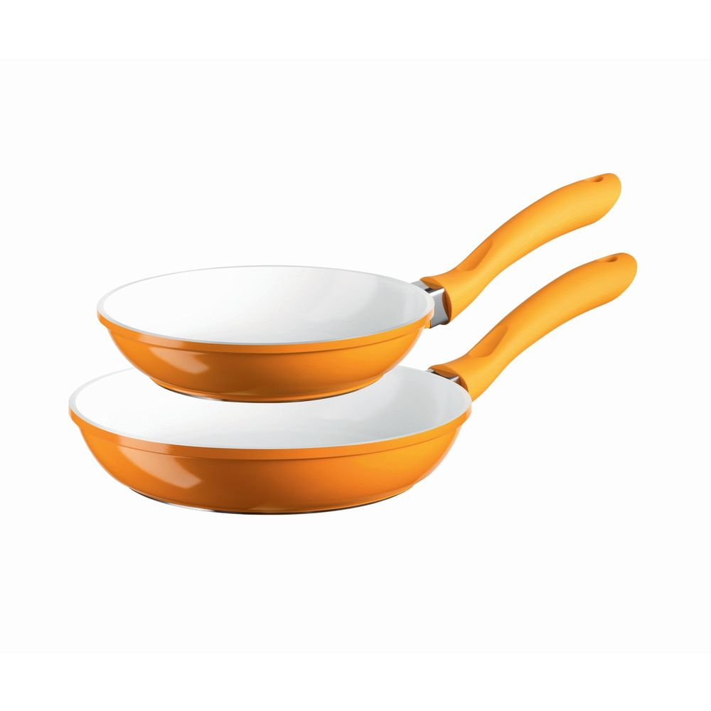 "Domestic TOP SELECTION 926622 ""Alioth"" Domestic Top Selection 926622 ""Alioth"" Pfannen-Set Ø 20-24cm, orange, 2-teilig (1 Set)"
