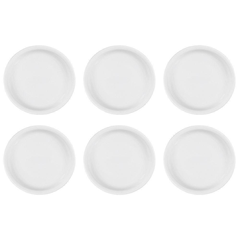 "flirt 69720 ""Bistro"" Frühstücksteller, Ø 20cm, Porzellan, weiß (6er Pack)"