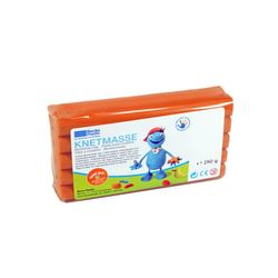 Becks Plastilin B100466 Knetmasse / Modelliermasse für Kinder, orange (250 g)