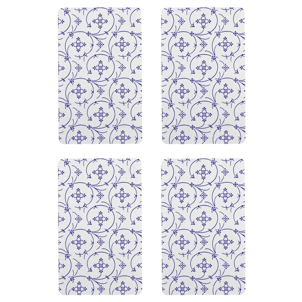 """Frühstücksbrettchen """"Indisch Blau"""", Melamin, 23,5x14,5cm"""