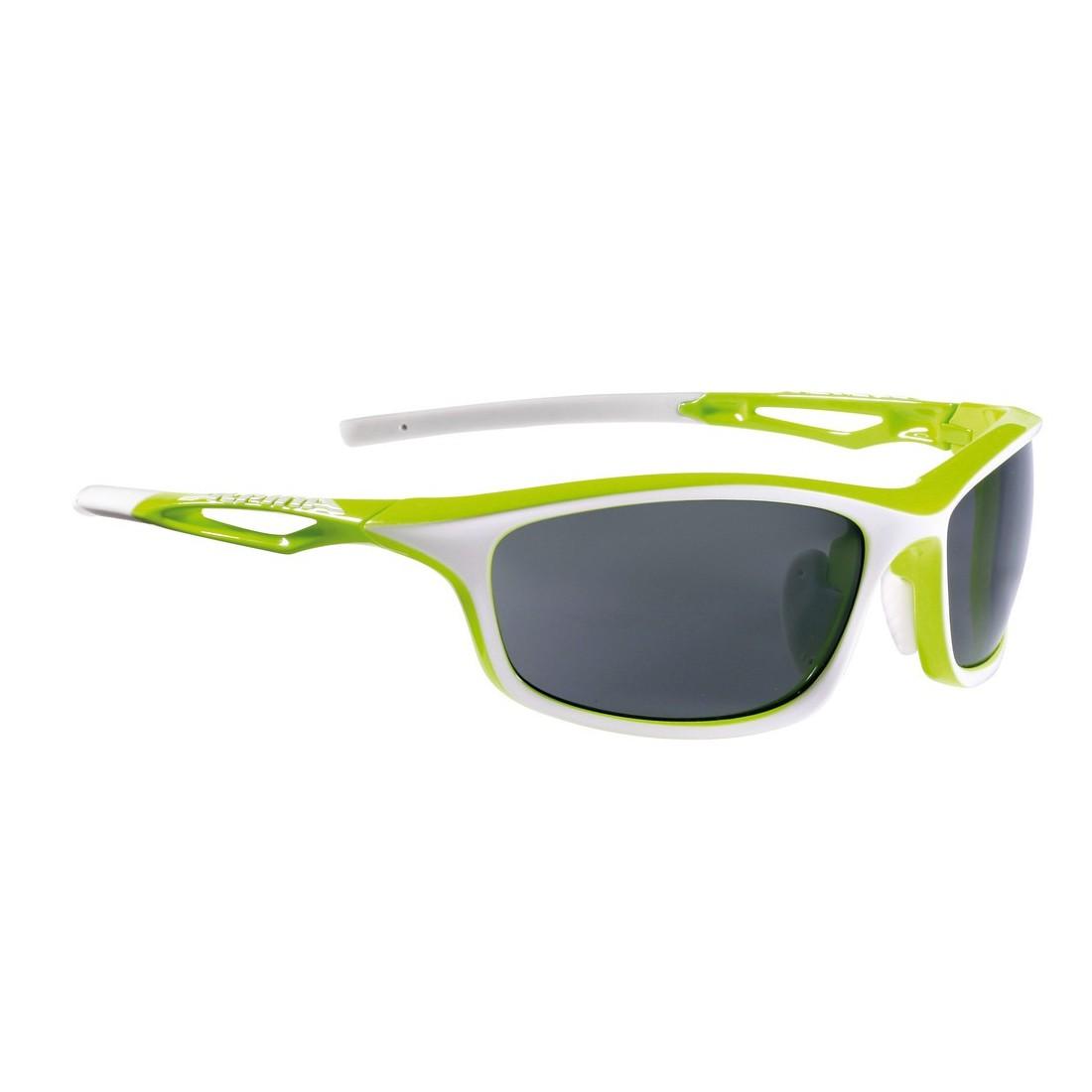 ALPINA A8569471 Sonnenbrille Sorcery, Rahmen grün/weiß matt, Glas S3 ...