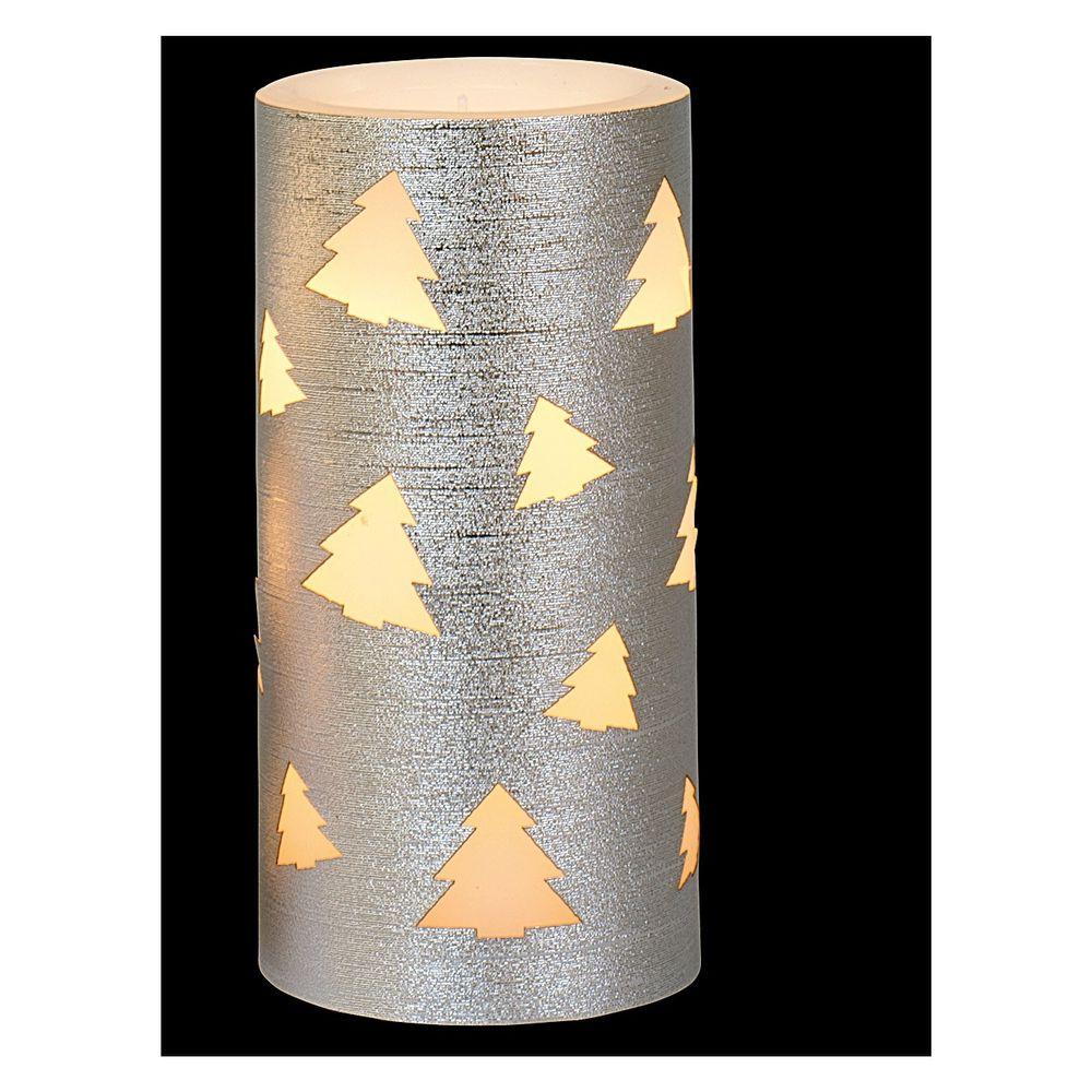 "LED-Kerze ""Elegant"" Tannenbaum-Motiv 15 x 7,5 cm"