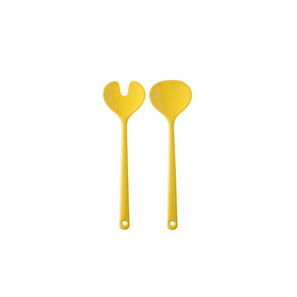 "Rosti Mepal 102058081300 Salatbesteck ""Synthesis"", latin yellow, 2-teilig (1 Set)"