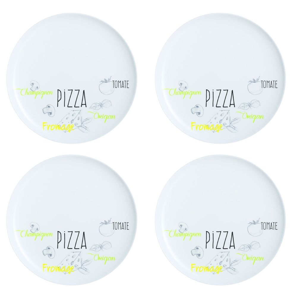 Pizzateller Ø 32cm, Opalglas