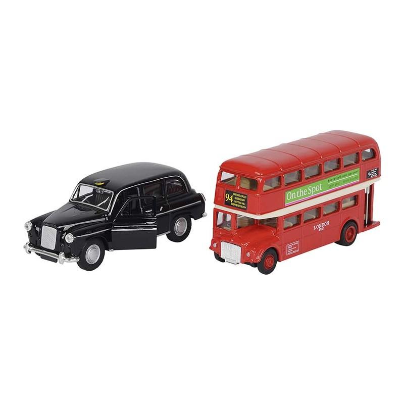 London Bus + Taxi, Spritzguss, Rückzugmotor