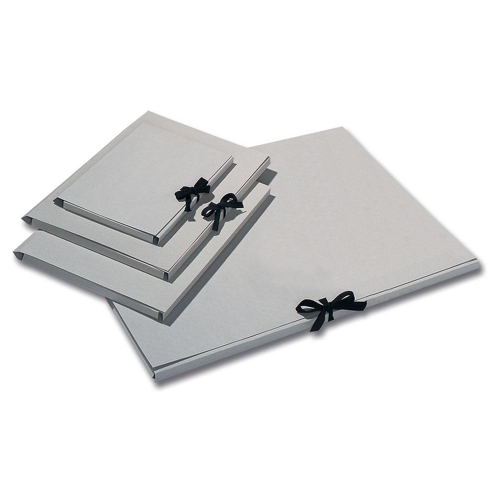folia 6902 Sammelmappe, Graupappe 500g/m², DIN A4, mit Band, grau (10 Stück)