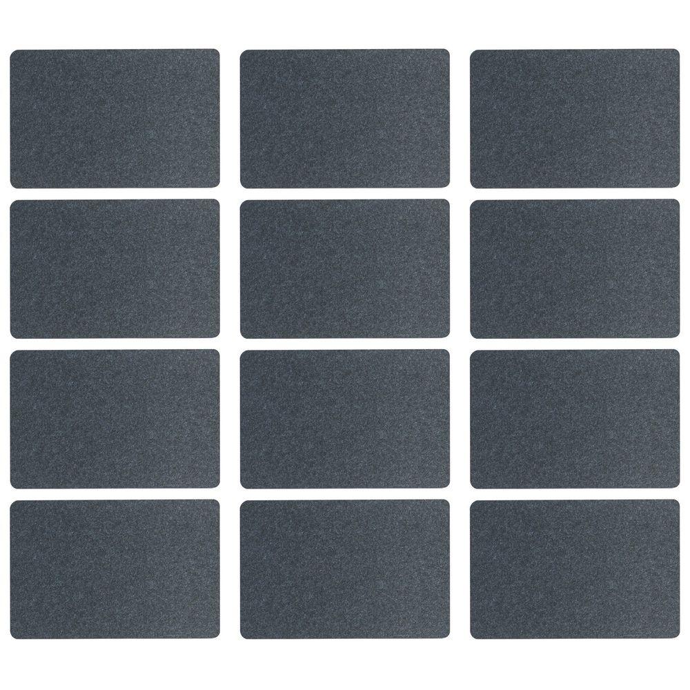 Zeller Present 26985 Tischset, Filz, 100% Polyester, 45x30cm, anthrazit (12 Stück)