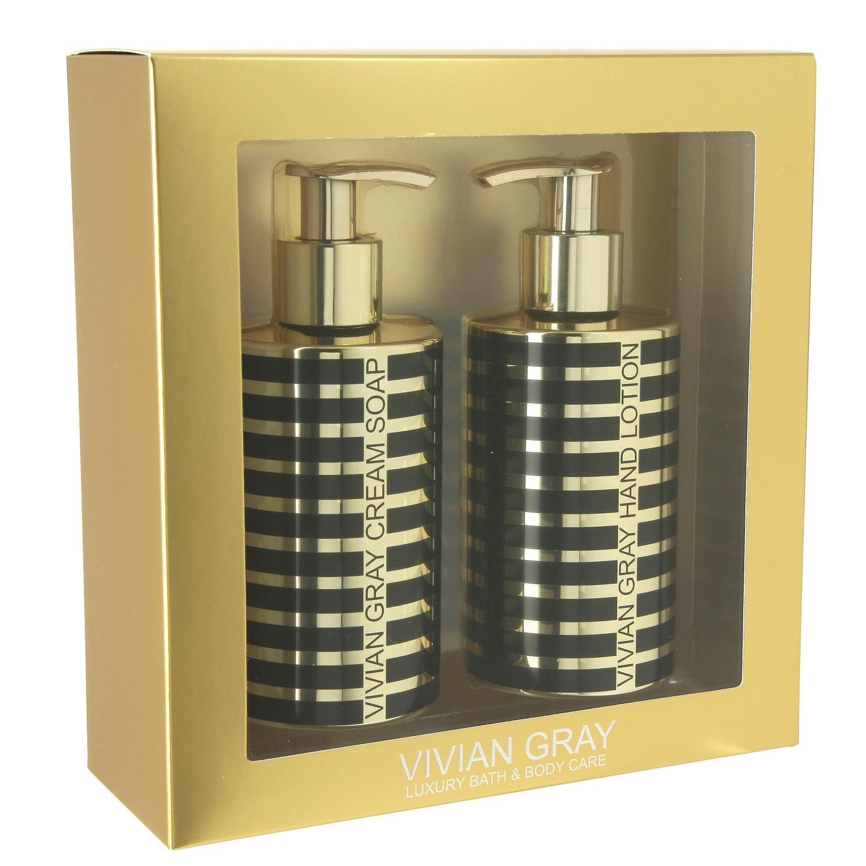Seifenspender Set vivian gray 3791 geschenkset seifenspender mit creme seife & hand