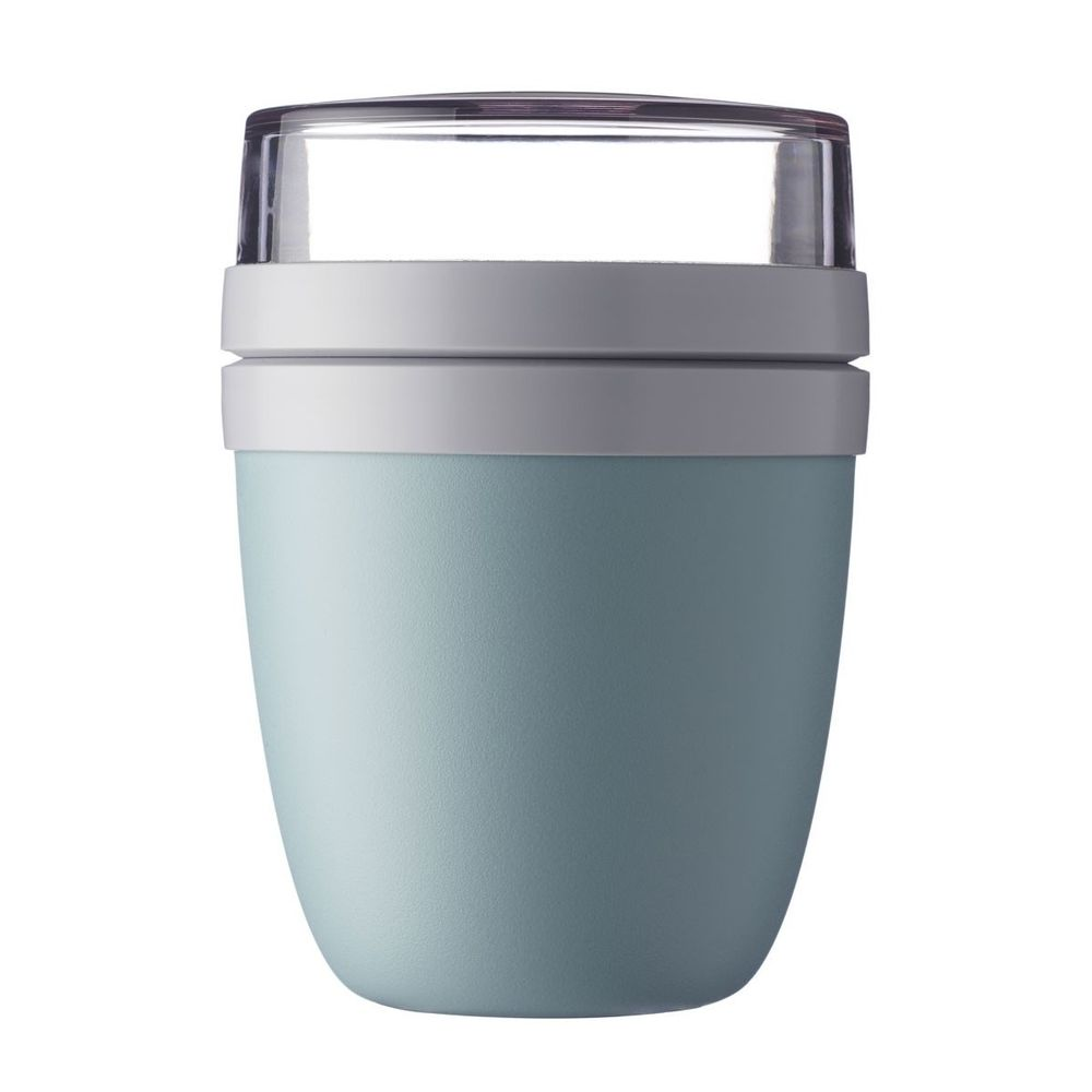 "Mepal 107648092400 ""Ellipse"" Lunchpot to go 500 ml & 200 ml, nordic green (1 Stück)"