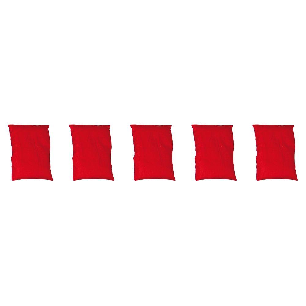 EDUPLAY 170090 Bohnensäckchen, 15 x 9 cm, rot (5 Stück)