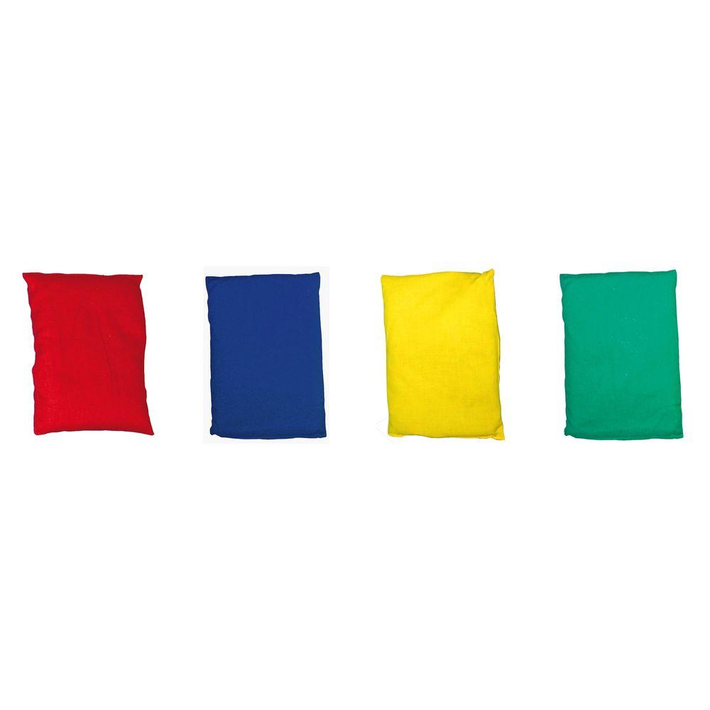 EDUPLAY SET Bohnensäckchen, 15 x 9 cm, 4 Farben, bunt (4er Pack)