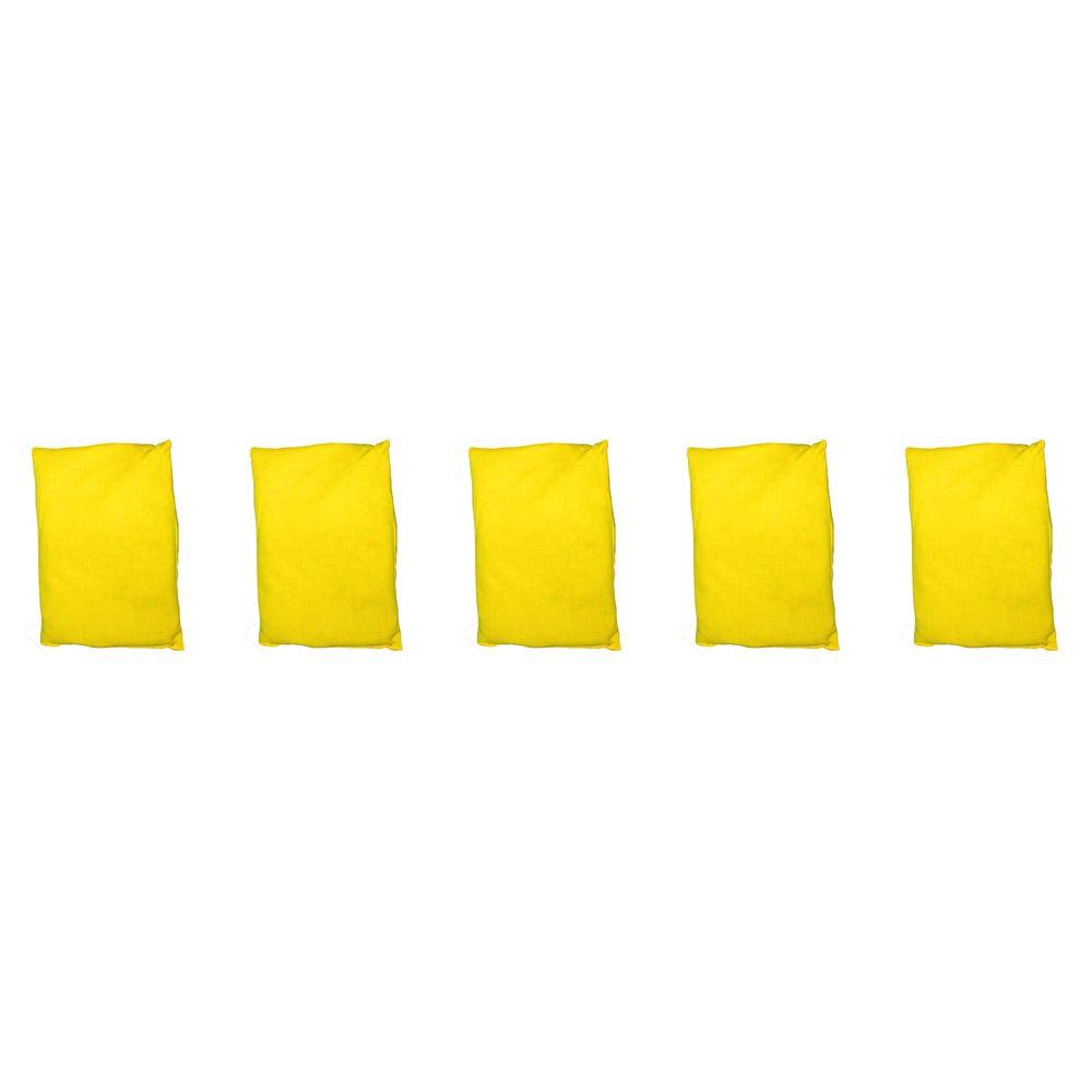 EDUPLAY 170096 Bohnensäckchen, 20 x 15 cm, gelb (5 Stück)