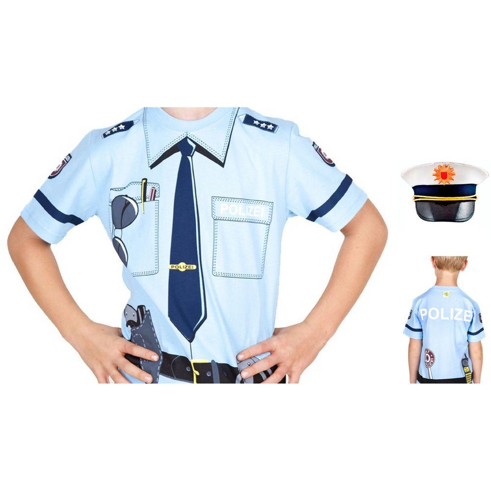 Kinder T-Shirt, Größe 134 & Mütze