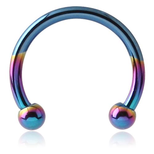 Piercing Circular Barbell Gloria Titan glänzend regenbogenfarben