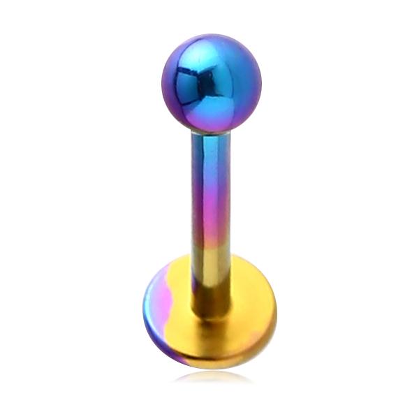 Piercing Labret Fatima Titan glänzend regenbogenfarben