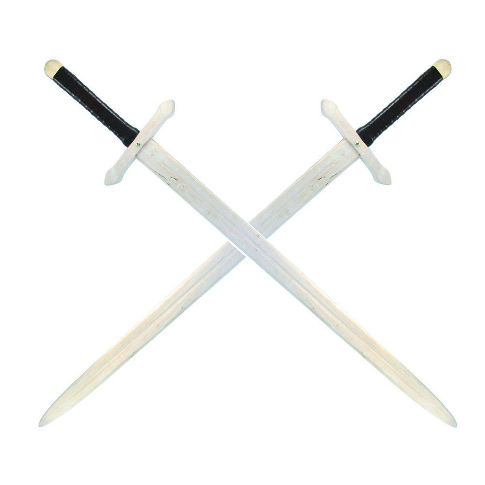 Ritter Zweihand Schwert, Holz, 107 cm, mit lederumwickeltem Griff