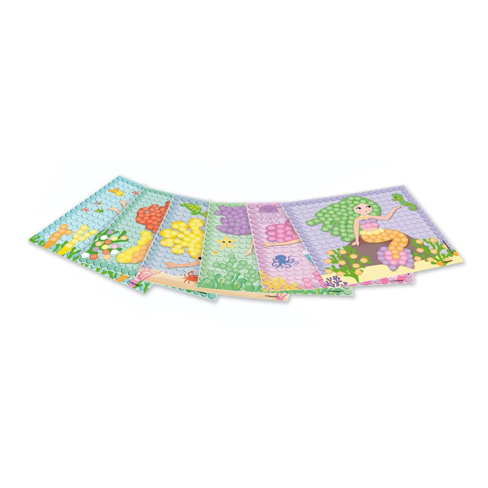 "PlayMais 160463 ""MOSAIC"" Card Set DREAM MERMAID, Karten zum bekleben, bunt, 6-teilig (1 Set)"