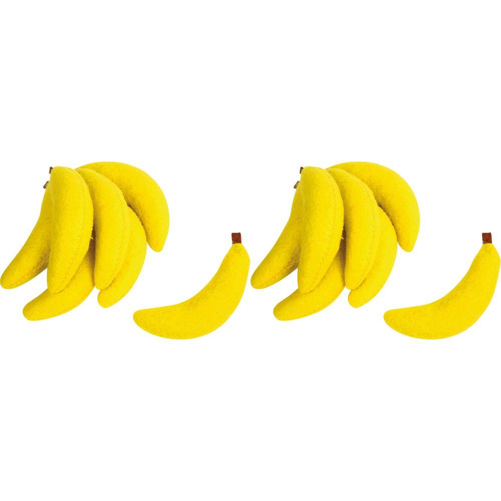 Small Foot Design 4419 Filz-Bananen, Ø 2 cm x 7,5 cm, für Kaufläden, gelb, 14-teilig (2 Sets à 7 Teile)