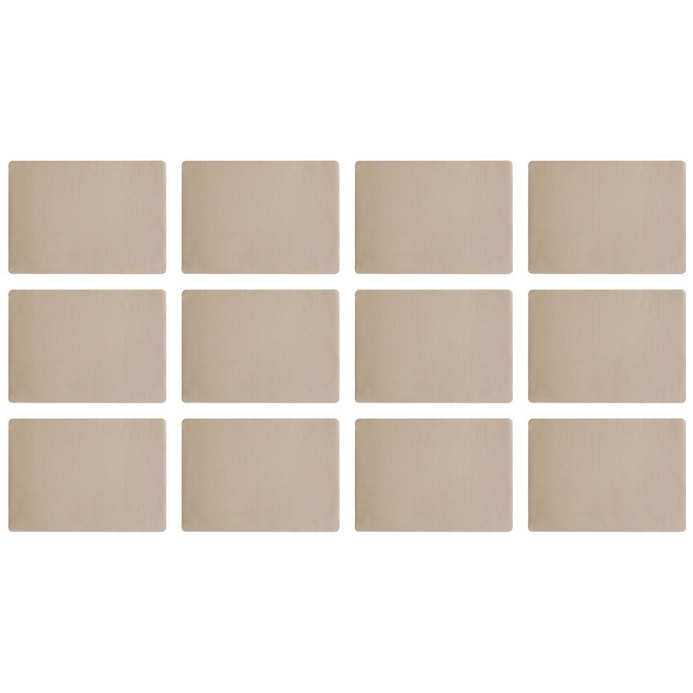 """ASA Selection 7801420 """"table top Lederoptik"""" Tischset, 46 x 33 cm, Kunststoff, stone (12er Pack)"""