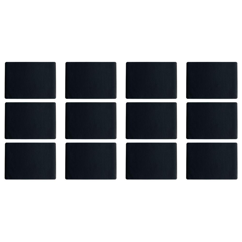 """ASA Selection 7805420 """"table top Lederoptik"""" Tischset, 46 x 33 cm, Kunststoff, schwarz (12er Pack)"""