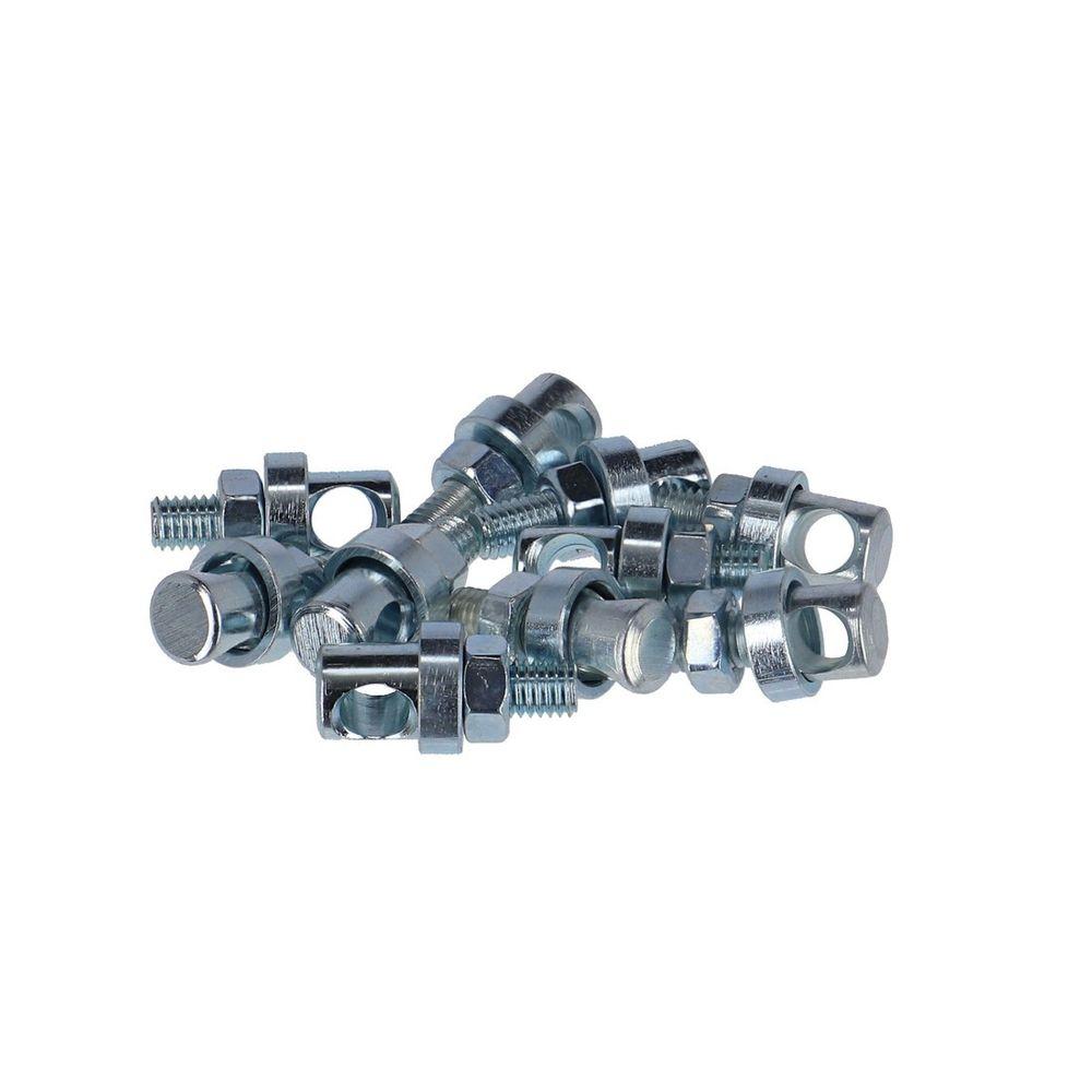 NR8 Fix Nippel Strebenbolzen M 5 verzinkt mit Bohrung 4,7mm 2er Pack