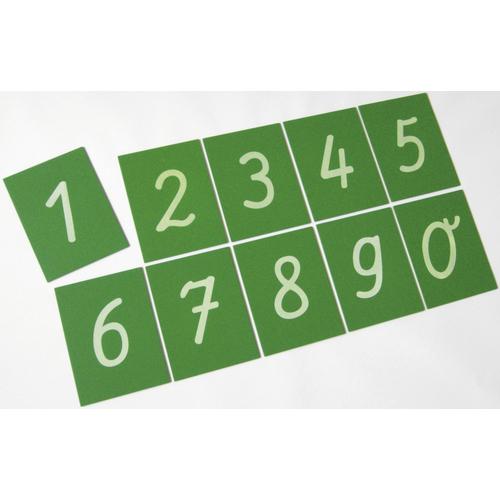 EDUPLAY 120-167 Sandpapierziffern 0-9, grün (1 Stück)