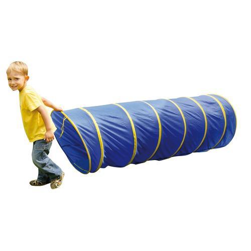 EDUPLAY 170 140 Kriechtunnel mit Tasche blau, 175cm, blaugelb (1 Stück) | mariposa toys