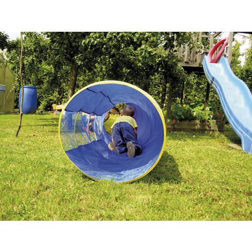 EDUPLAY 170 140 Kriechtunnel mit Tasche blau, 175cm, blaugelb (1 Stück)