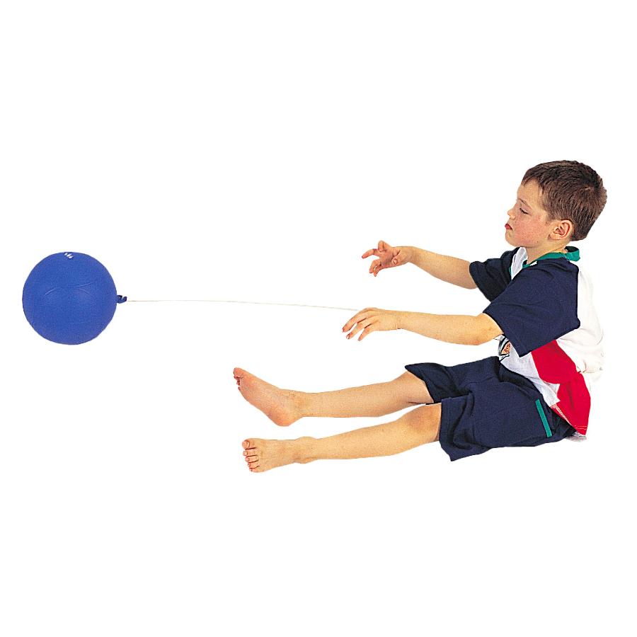 Komm-Zurück-Ball blau mit Seil