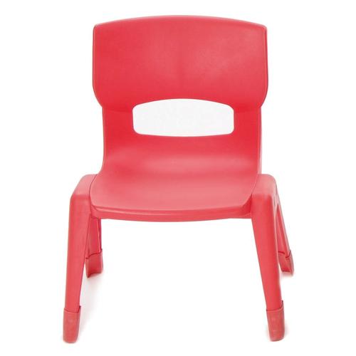 Weplay KE0005-00R Mittlerer Stuhl rot, 30cm Kinderstuhl, rot (1 Stück)