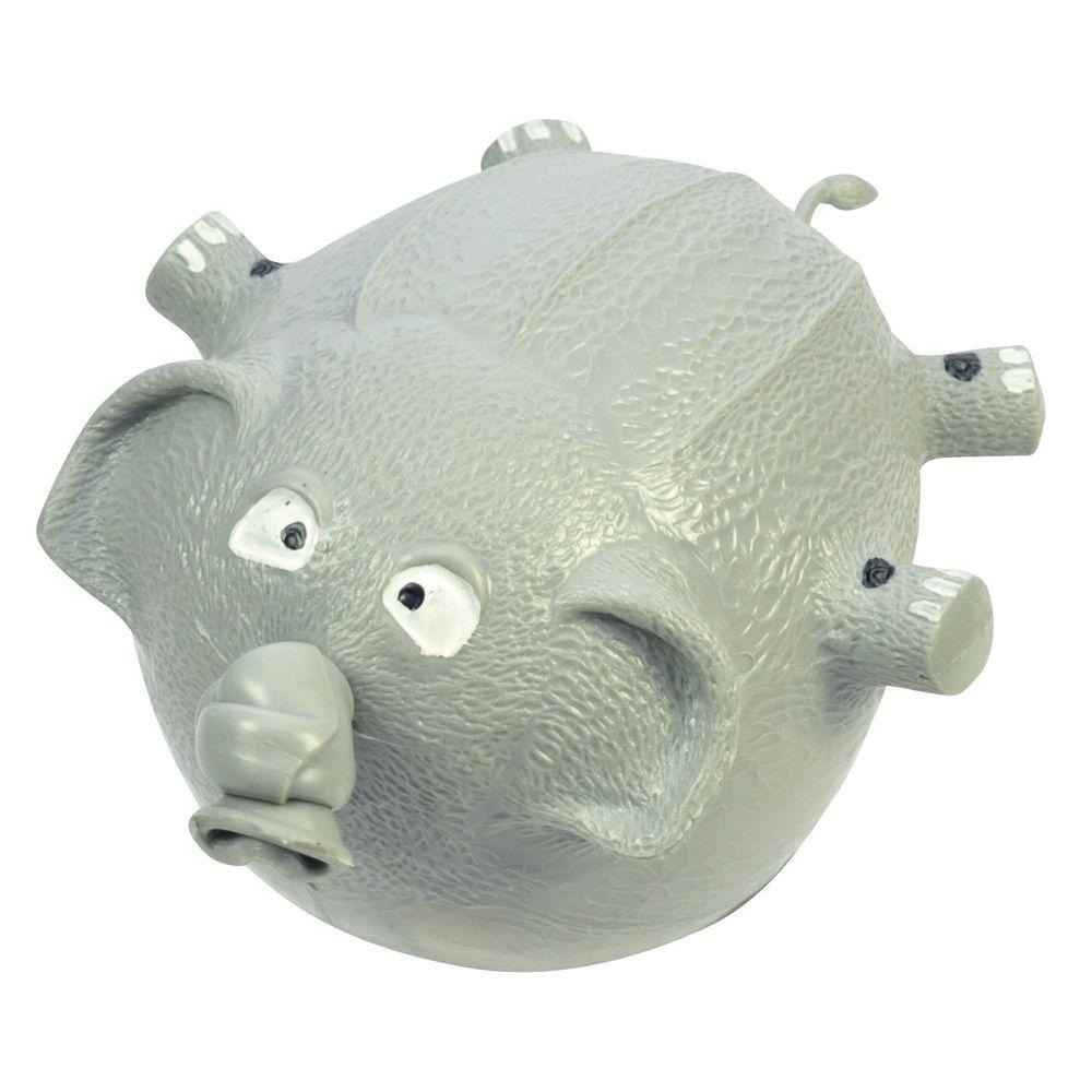 EDUPLAY 130052-EL Tier-Luftballon, wieder aufblasbar, Elefant, grau (1 Stück)