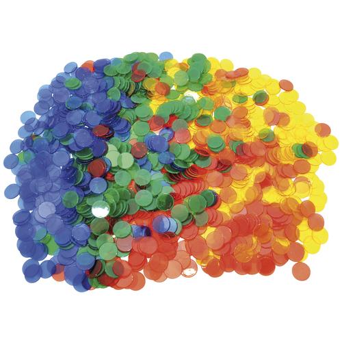 EDUPLAY 120-155 Zählchips, mehrfarbig/transparent, 1000-teilig (1 Set)