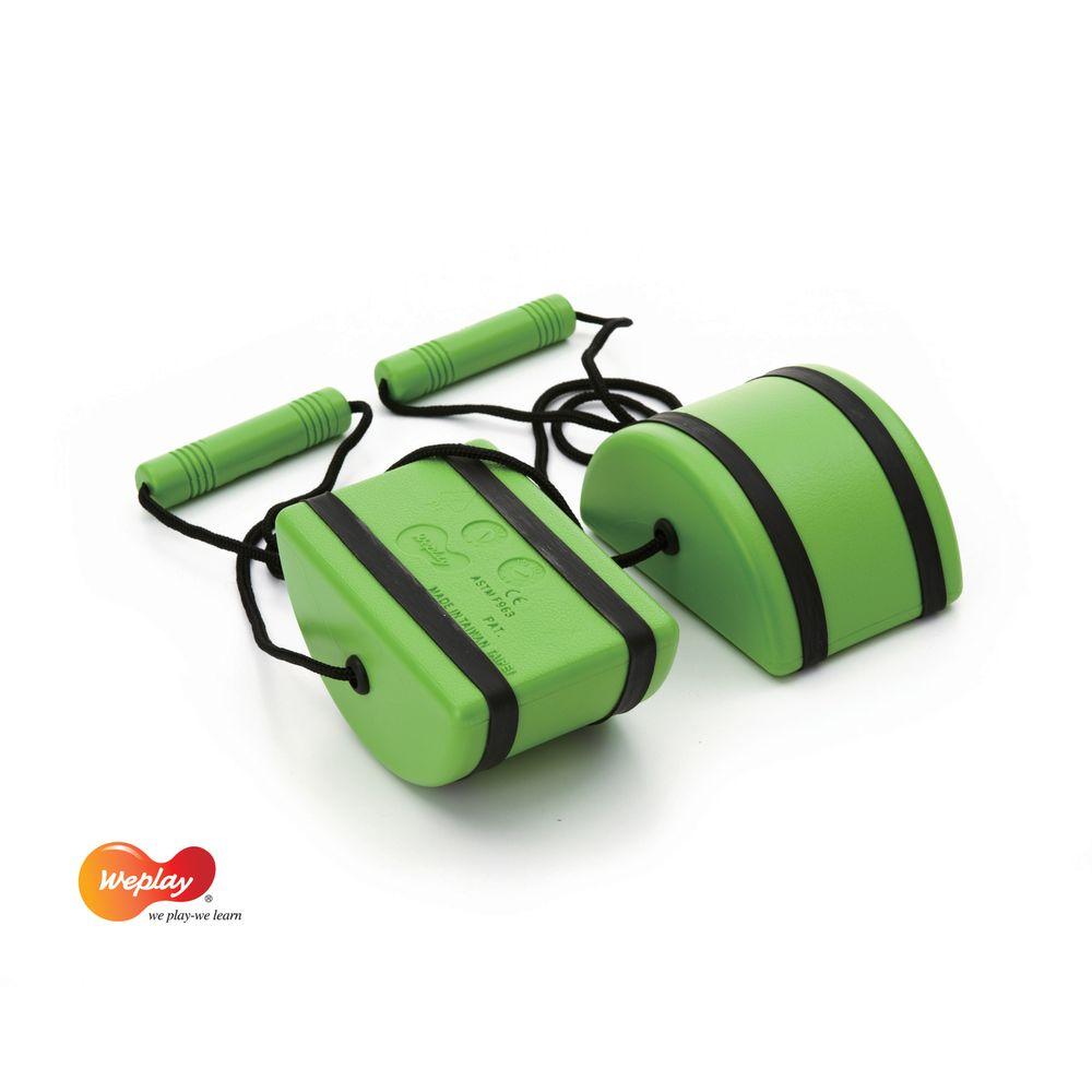 Weplay KT0001 Laufsteine, Balance Flußsteine Laufdollis, grün (3 x 2er Pack)