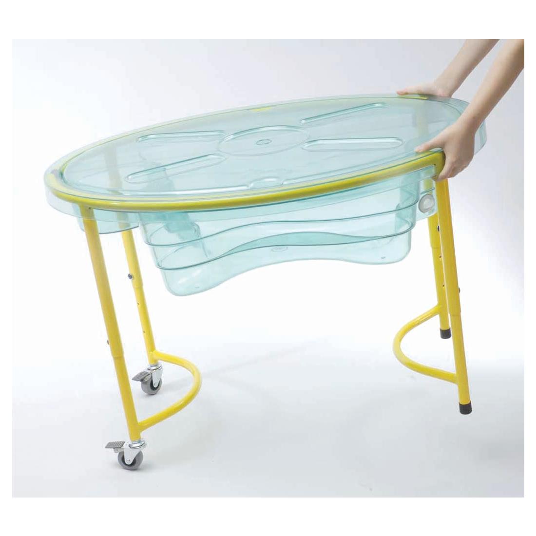 weplay kt2001 00c mobiler sand wasser spieltisch mit deckel transparent 1 st ck spielzeug. Black Bedroom Furniture Sets. Home Design Ideas