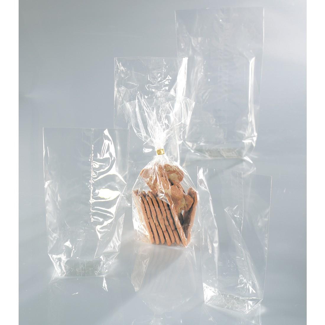 Folia Bodenbeutel unbedruckt transparent 100er Pack 115x190mm