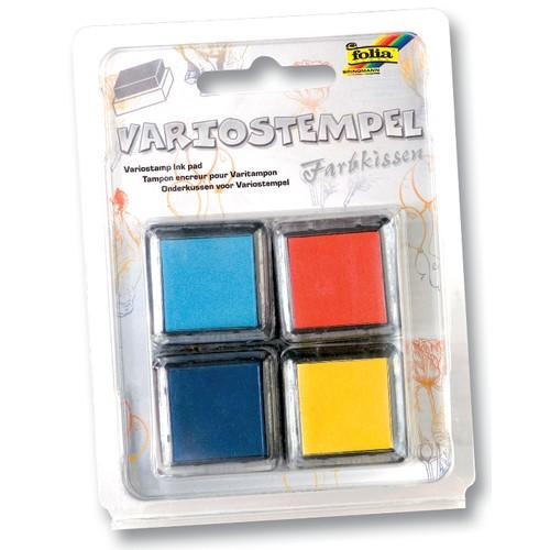 Variostempel Kissen 4 Farben Set III